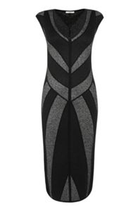 Chevron Sparkle Midi Dress