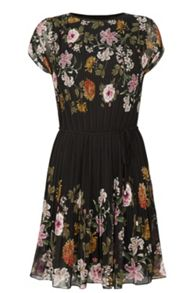 Oasis Opium Pleat Dress