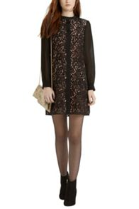 Lace Chiffon Sleeve Dress
