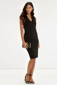 V Neck Crepe Dress