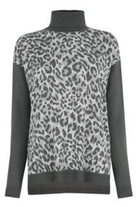 Oasis Smudgy Animal Print Knit