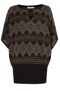 Aztec Notch Neck Top