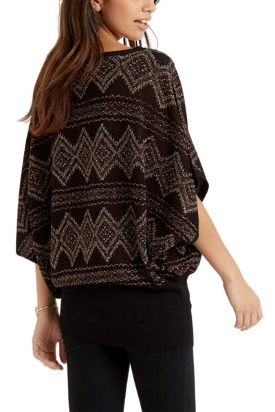 Oasis Aztec Notch Neck Top
