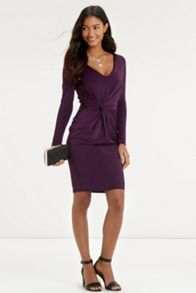 Slinky Twist Front Dress