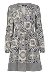 Paisley Patched Viscose Dress