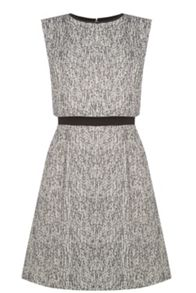 Tweed Overlay Dress