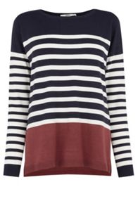 Colourblock Stripe Jumper