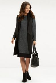 Tweed Patched Tube Dress