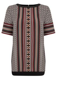 Oasis Tribal Woven Front Top