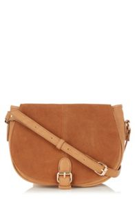 Sydney Suede/Pu Saddle Bag