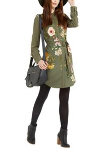 Oasis Opium Visc Print Shirt Dress
