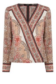 Oasis Scarf Print Blouse