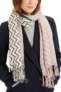 Oasis Patched Chevron Scarf
