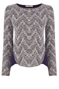 Zig Zag Tweed Knit