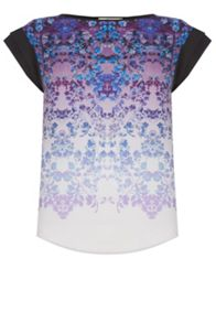 Ombre Floral Woven Front Top