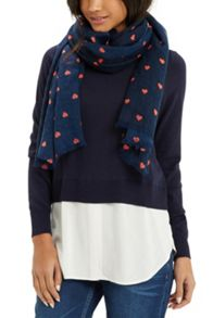 Oasis Coral Heart Scarf
