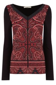 Oasis Paisley Woven Front Top