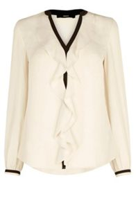 Oasis Tipped Frill Front Blouse