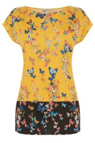 Oasis Butterfly Print T-Shirt