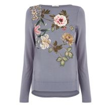 Oasis Embroidered Opium Top