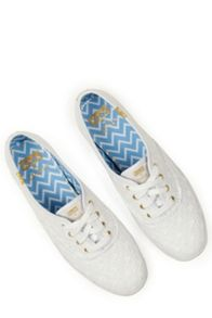 Oasis Broderie Lace Up Trainer