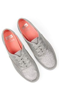Oasis Glitter Lace Up Trainer