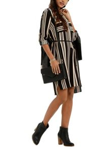 Stripe Shirtdress