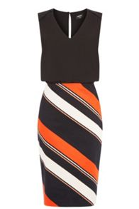 Stripe 2 In 1 Pencil Dress