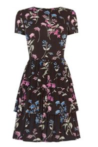 Oasis Botanical Tiered Dress