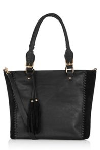 Oasis Suede Patch Whipstitch Shopper