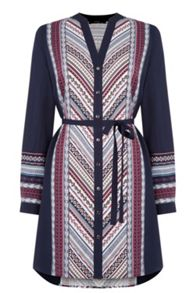 Navaho Stripe Shirt Dress