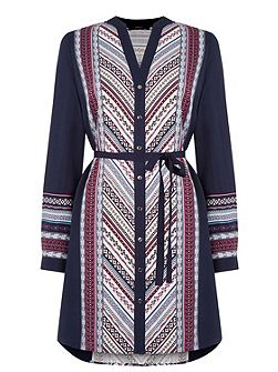 Oasis Navaho Stripe Shirt Dress