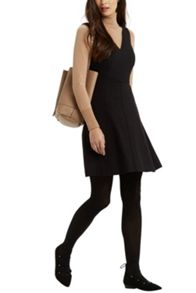 Workwear V Neck Skater Dress