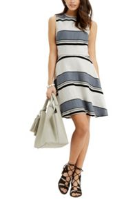 Oasis Stripe Linen Skater Dress