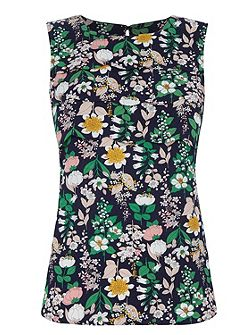 Edie Floral Scallop Shell Top