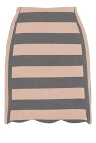 Scallop Stripe Skirt