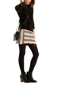 Oasis Scallop Stripe Skirt