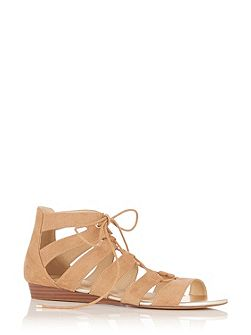Winona Lace Up Ghillie Wedge Sandal