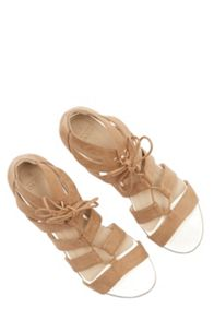 Oasis Winona Lace Up Ghillie Wedge Sandal