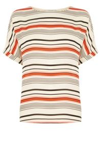 Oasis Stripe Roll Sleeve T-Shirt