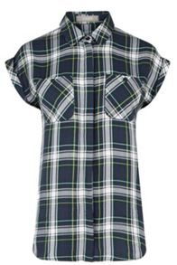 Oasis Roll Sleeve Check Shirt