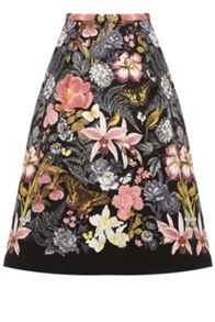Oasis Botanical Placement Midi Skirt