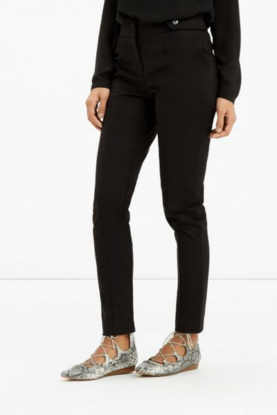 Oasis Compact Cotton Trouser Long Length