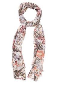 Oasis Botanical Collage Sequin Scarf