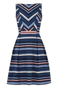 Oasis Chevron Stripe Dress