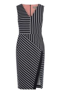Oasis Stripe Wrap Pencil Dress