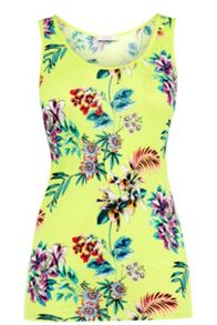 Oasis Malay Tropical Print Vest