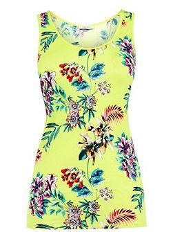 Malay Tropical Print Vest