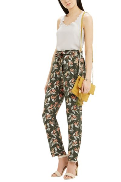 Oasis Palm Printed Belted Peg