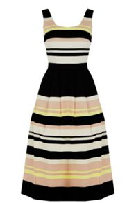 Oasis Saffron Stripe Midi Dress